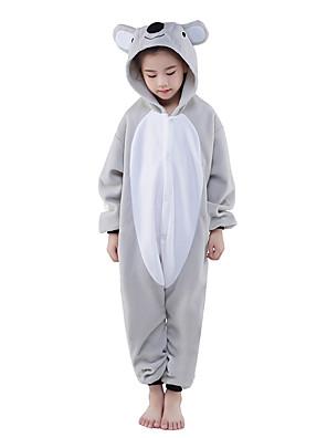 Kigurumi Pyžama New Cosplay® / Koala Leotard/Kostýmový overal Festival/Svátek Animal Sleepwear Halloween Šedá Patchwork polar fleece