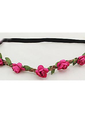 נשים נייר כיסוי ראש-חתונה זרי פרחים חלק 1 סגול / כחול / ירוק / כתום / ורוד / אדום / לבן / פוקסיה / צהוב