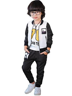 מכנסיים / חליפה ובלייזר / סט של בגדים יום יומי\קז'ואל פסים כותנה / פוליאסטר אביב / סתיו שחור הילד של