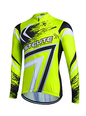 Fastcute® Camisa para Ciclismo Mulheres / Homens / Crianças / Unissexo Manga Comprida MotoRespirável / Secagem Rápida / Zíper Frontal /