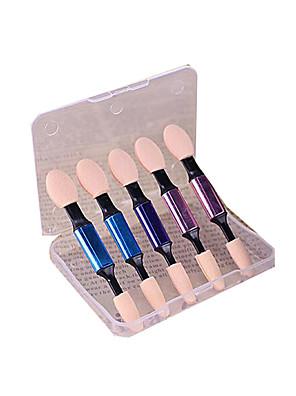 5 Pincel para Sombra Escova de Cabelo de Cabra Portátil Plastic Olhos ShangYang