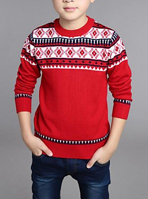 Boy's Casual/Daily Striped Sweater & Cardigan,Cotton Spring / Fall Blue / Green / Red
