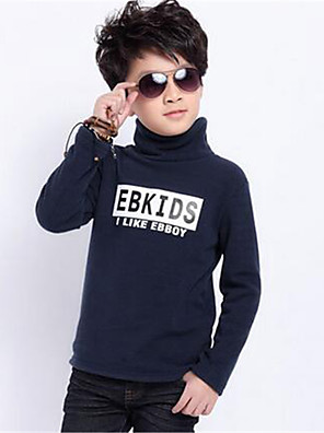 Boy's Casual/Daily Print Hoodie & Sweatshirt,Cotton Spring / Fall Blue / Green / Red / Gray