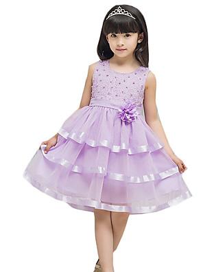 שמלה יום יומי\קז'ואל אחיד אחרים קיץ צבעוני הילדה של