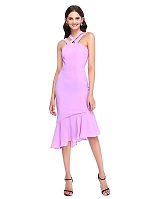 2017 לנטינג bride® שמלת השושבינה סימטרית שיפון אלגנטית - בכושר& רצועות התלקחות עם קפלים