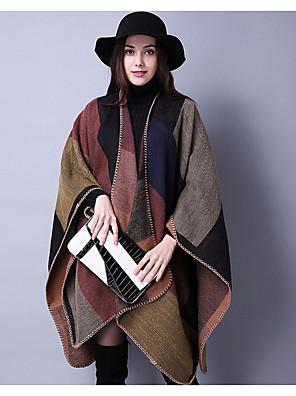 Damer Vintage Akryl Halstørklæde-Patchwork Rektangulær