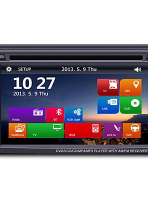 6.2 2DIN tft touch screen in-dash auto dvd-speler met gps bt radio sd / usb rds 800 * 480screen resolutie