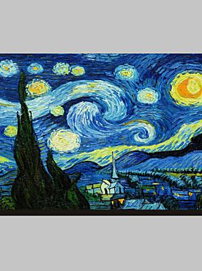 Starry Night c1889 Vincent Van Gogh híres kifeszített vászon Nyomtatás