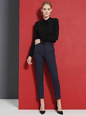 ג + להרשים כחול ההדפסה של נשים / pantssimple עסקים שחור