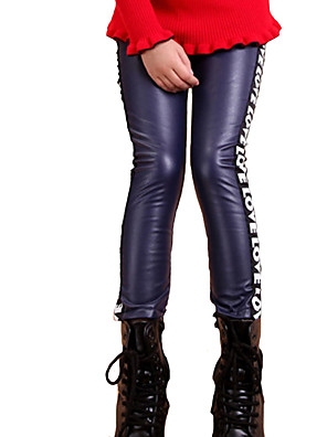 Girl's Casual/Daily Solid LeggingsCotton Fall Black / Blue / Brown / Red