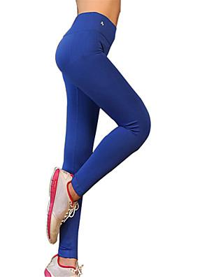 Jóga kalhoty Kalhoty / Cyklistické kalhoty / Spodní část oděvu Prodyšné / Rychleschnoucí / Komprese Přírodní Vysoká pružnostSportovní
