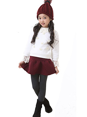 Menina de Vestido / Leggings,Casual Cor Única Outros Primavera / Outono Colorido