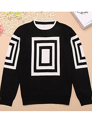 Boy's Casual/Daily Print Sweater & CardiganCotton Winter / Spring / Fall Black / Red / Gray