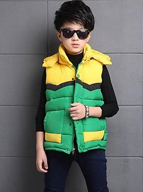 ווסט יום יומי\קז'ואל טלאים פוליאסטר חורף שחור / ירוק / אדום / צהוב הילד של