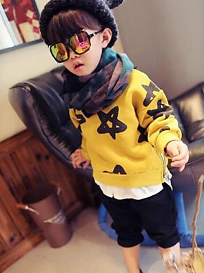 Boy's Casual/Daily Solid Hoodie & SweatshirtCotton Spring / Fall Yellow
