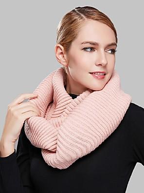 Damer Casual Akryl Halstørklæde-Ensfarvet Uendelighedshalstørklæde Rød / Sort / Grøn / Brun / Pink / Orange / Khaki
