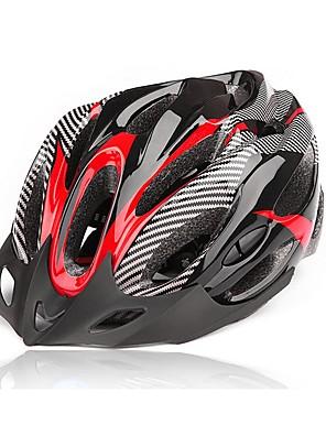 Capacete(Amarelo / Vermelho / Preto / Azul,Fibra de Carbono + EPS) -Montanha-Unisexo 20 Aberturas Ciclismo / Ciclismo de Montanha