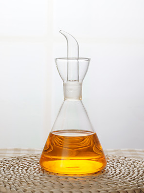 1db szivárgásmentes üveg átlátszó háztartási konyhai olajtartály szójaszósz pot