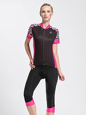 TASDAN® Camisa com Shorts para Ciclismo Mulheres Manga Curta MotoRespirável / Secagem Rápida / Tapete 3D / Tiras Refletoras / Bolso