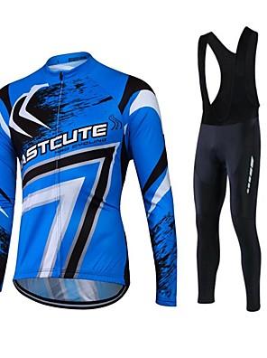 Fastcute® Camisa com Calça Bretelle Mulheres / Homens / Unissexo Manga Comprida MotoRespirável / Mantenha Quente / Secagem Rápida / Forro