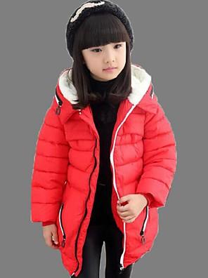 Dívka je Běžné/Denní Jednobarevné Zima S podšívkou Polyester Modrá / Červená