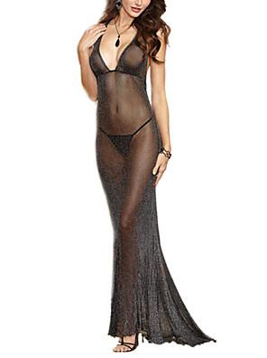 Vrouw Ultrasexy / Kostuum Nachtkleding-Effen Sexy,Dun Polyester / Spandex Zwart Vrouwen