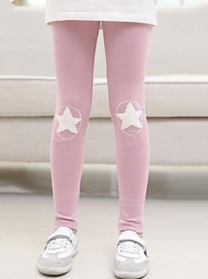 Girl's Casual/Daily Print Jacket & Coat / LeggingsCotton Fall Pink / Yellow / Gray