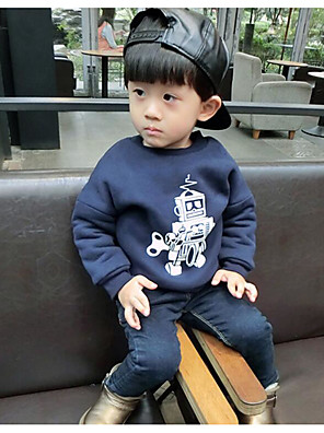Boy's Casual/Daily Print Hoodie & SweatshirtCotton Winter / Fall Blue / Yellow