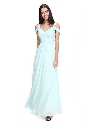 2017 Lanting bride® kotníky šifónové elegantní družička šaty - a-linka pásky s criss křížem