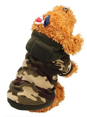 חתולים / כלבים מעילים / קפוצ'ונים ירוק / חום בגדים לכלבים חורף / קיץ/אביב להסוות אופנתי / Keep Warm