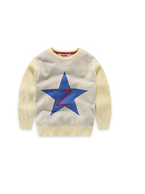 Boy's Casual/Daily Solid Sweater & CardiganCotton Spring / Fall Blue / White