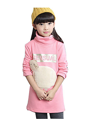 Girl's Casual/Daily Animal Print Hoodie & SweatshirtCotton / Rayon Winter / Spring / Fall Black / Pink / Gray