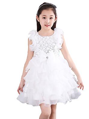 Dívka je Šifon Běžné/Denní Jednobarevné Léto Šaty,Bez rukávů