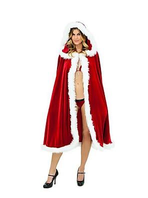 Festival/Svátek Halloweenské kostýmy Červená Jednobarevné Kabát / Podprsenka / Kalhotky Vánoce Dámské Plyš