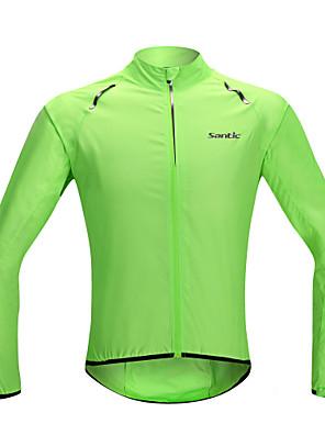 SANTIC® ג'קט לרכיבה לנשים / לגברים / יוניסקס שרוול ארוך אופניים עמיד למים / ייבוש מהיר / עמיד / מוגן מגשם / קרם הגנה / בד קל מאודג'קט /
