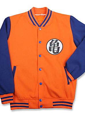 חליפות קוספליי קיבל השראה מ Dragon Ball Son Goku אנימה אביזרי קוספליי חולצה שחור כותנה יוניסקס