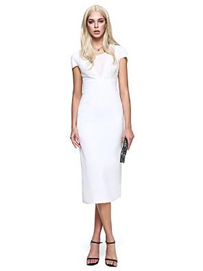 TS Couture® Koktejlový večírek Šaty Pouzdrové Kopeček K lýtkům Šifón s Boční řasení