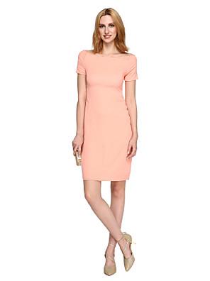TS Couture® מסיבת קוקטייל שמלה - איוונקה סגנון / סגנון של מפורסמים מעטפת \ עמוד סירה באורך  הברך למתוח שיפון עם