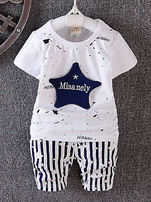 Boy Casual/Daily / Sports Print Sets,Cotton Winter / Fall Short Sleeve Clothing Set