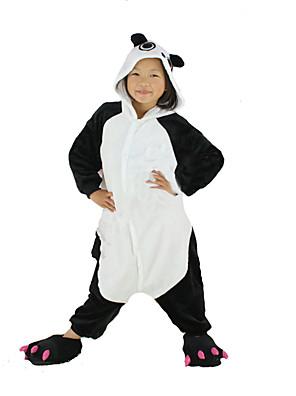 Kigurumi Pyžama New Cosplay® / Panda Leotard/Kostýmový overal Festival/Svátek Animal Sleepwear Halloween Bílá / Černá Patchwork Flanel