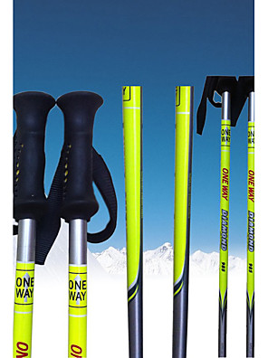 onewav ski pole.ski sportsgrene produkter / sølvfarvede og gul