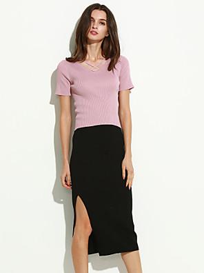 Katoen / Breigoed - Micro-elastisch - Sexy / Casual - Maxi - Vrouwen - Rokken