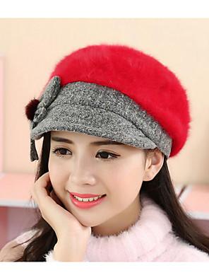 כובע קלושה\עם שוליים רחבים נשים יום יומי,פרוות ארנב קיץ / חורף