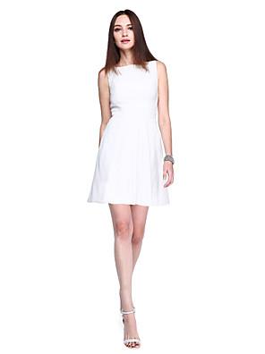 TS Couture® מסיבת קוקטייל שמלה - איוונקה סגנון / סגנון של מפורסמים מעטפת \ עמוד סירה קצר \ מיני ג'רסי עם