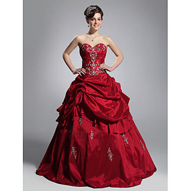 TS Couture® Prom / Formal Evening / Quinceanera / Sweet 16 Dress - Open Back Plus Size / Petite Ball Gown Strapless / Sweetheart Floor-length Taffeta