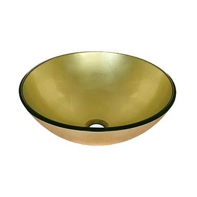 Todo el oro de vidrio templado palangana 0888 ral 6470 179922 2016 - Lavabo de vidrio ...
