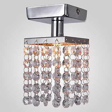 Buy Max 25W Flush Mount , Modern/Contemporary Chrome Feature Crystal / Mini Style Metal Living Room Bedroom Entry