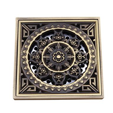 Buy Bathroom Accessory Antique Brass Finish Solid Floor Drain-LK-1052