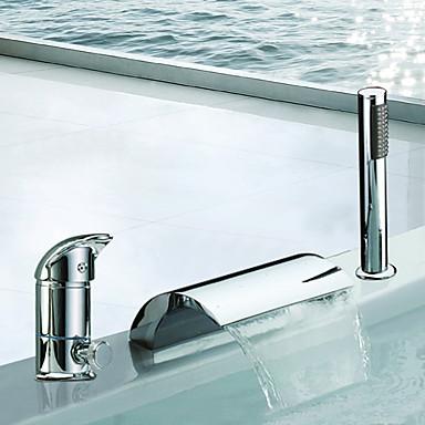 Modern romeins bad waterval wide spary inclusief handdouche with keramische ventiel twee - Moderne badkraan ...