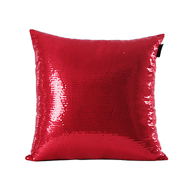 Buy Red Sequins Design Decorative Pillow Cover